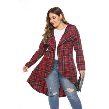Plaid shirt jacket autumn & winter loose coat Coats & Jackets Picture color 5XL