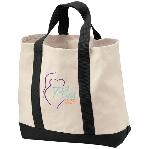 Plus Size 2-Tone Shopping Tote