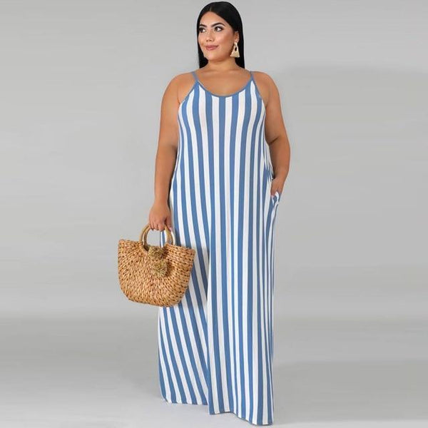 Plus-Size Backless Loose Summer Robe