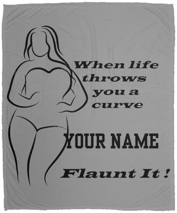 Plus Size Curvy Women's Cozy Plush Fleece Blanket - 50x60