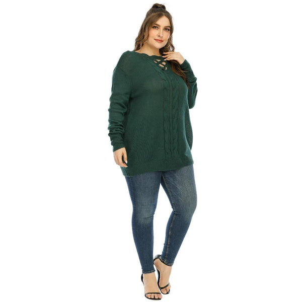 Plus size Knit Green sweater sweaters
