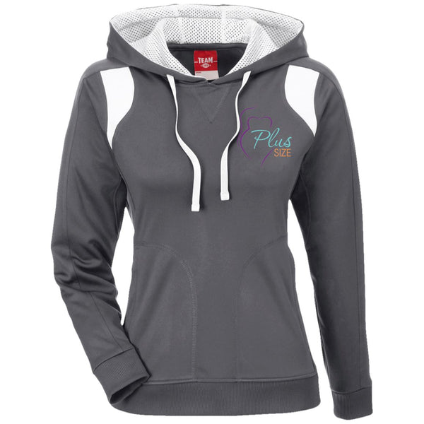 Plus Size Ladies' Color Poly Hoodie