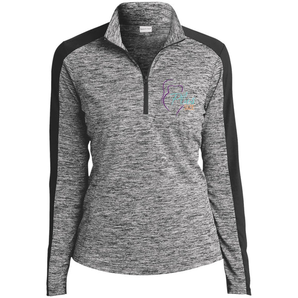 Plus Size Ladies' Sport Heather Color 1/4-Zip Pullovers