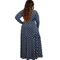 Plus size Long Boho Print Dot Dress