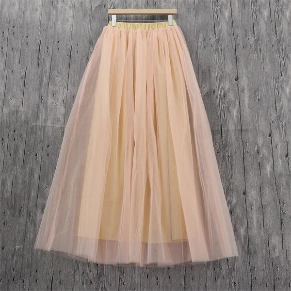 Plus Size Long Tulle Bridesmaid Vintage Wedding Skirts Peach skirts
