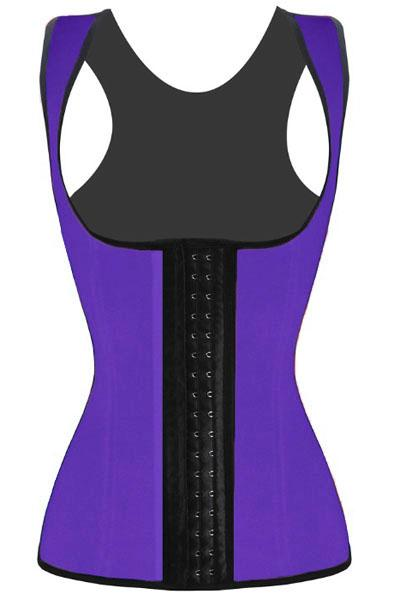 Plus Size Purple Waist Cincher 4 Steel Bones Underbust Corset Plus Size Lingerie Purple XXXL
