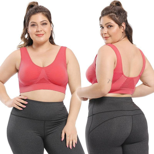 Plus Size Seamless Comfort Sports Bra With Pads bras