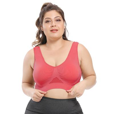 Plus Size Seamless Comfort Sports Bra With Pads bras Red 6XL