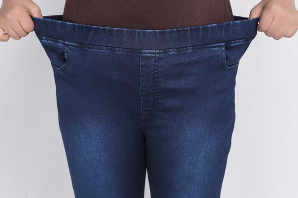 Plus Size Stretch Cropped Jeans pants