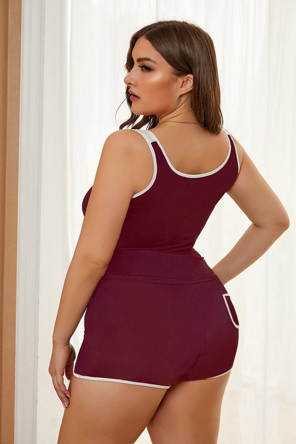 Plus Size Tank and Short Set Plus Size Loungewear