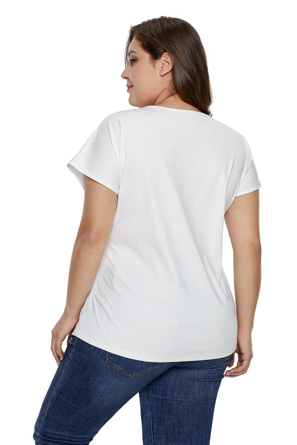 Plus Size Twist Front Top Tops