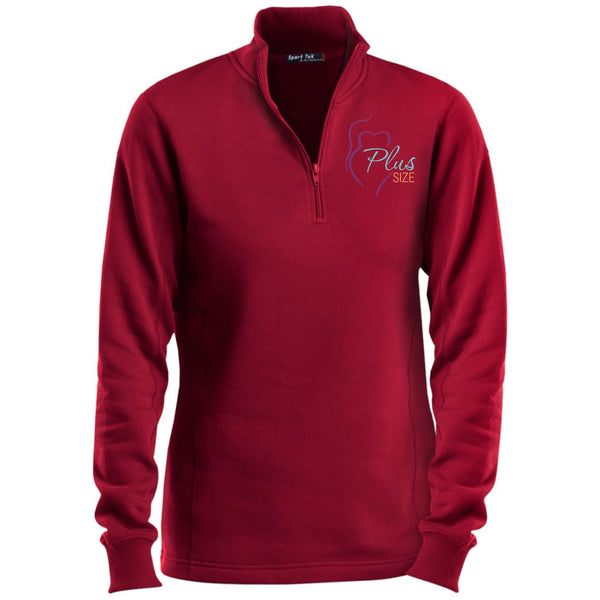Plus Size Women Sport-Tek 1/4 Zip Sweatshirt