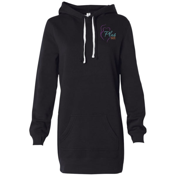 Plus Size Women's Hooded Pullover Dress