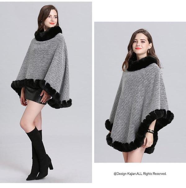 Pullover Poncho Knitted Outerwear outerwear
