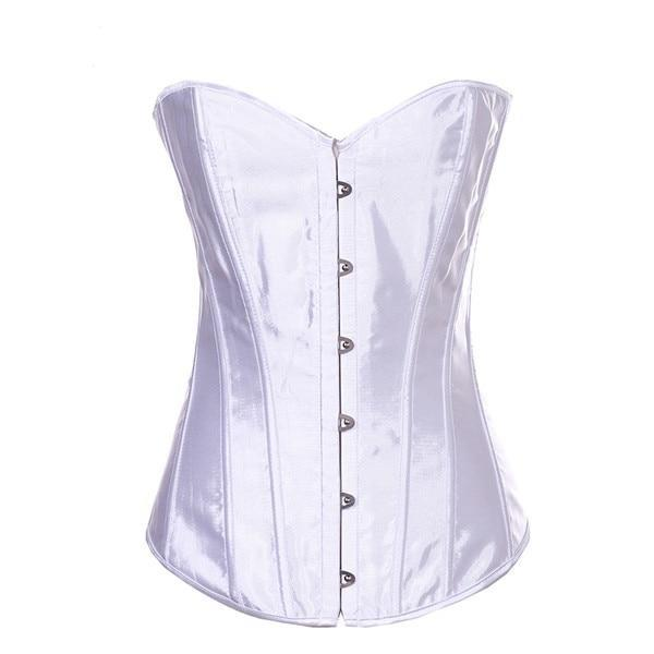 Satin Waist Trimmer Corsets And Bustiers corsets White XXXL