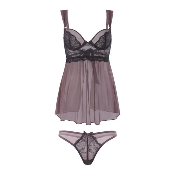 Sexy Lingerie Babydoll Lace Nightgown Lingerie