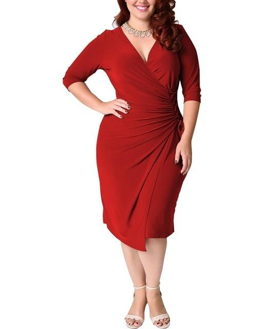 Sexy Party Vintage Midi Dress dress Red L