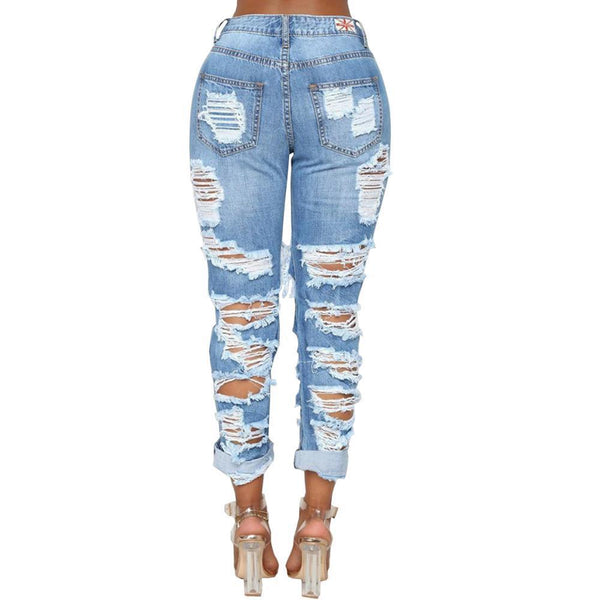 Sexy Ripped Jeans Fashion Hole Denim Pants jeans