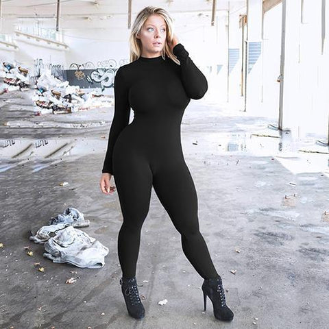 Sexy Tight Fitness Yoga Jumpsuit jumpsuit Black S