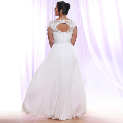 Sexy V-Neck Chiffon Wedding Dress wedding dress