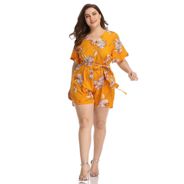 Short Sexy Floral Romper Outfit Rompers