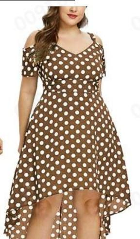 Short Sleeve Off Shoulder Polka Dot Dress dress Mint XXL