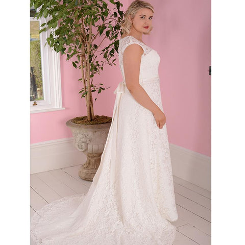 Sleeveless Detachable Belt Wedding Dress wedding