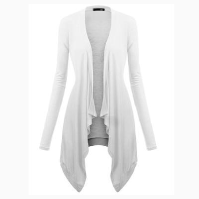 Solid Casual Irregular Cardigan Sweaters Fall Spring