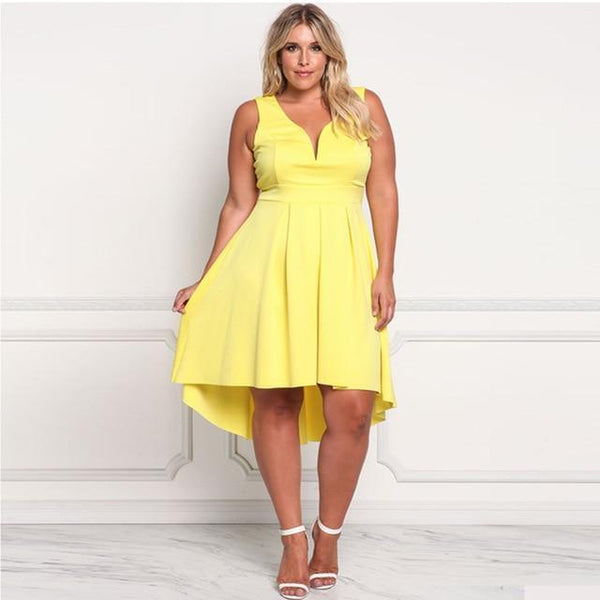 Summer Dresses Deep V Neck Sleeveless Mermaid Dress