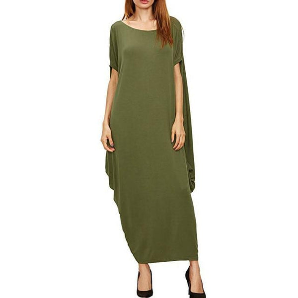Summer Long Ankle Length Dress dress Army Green 5XL