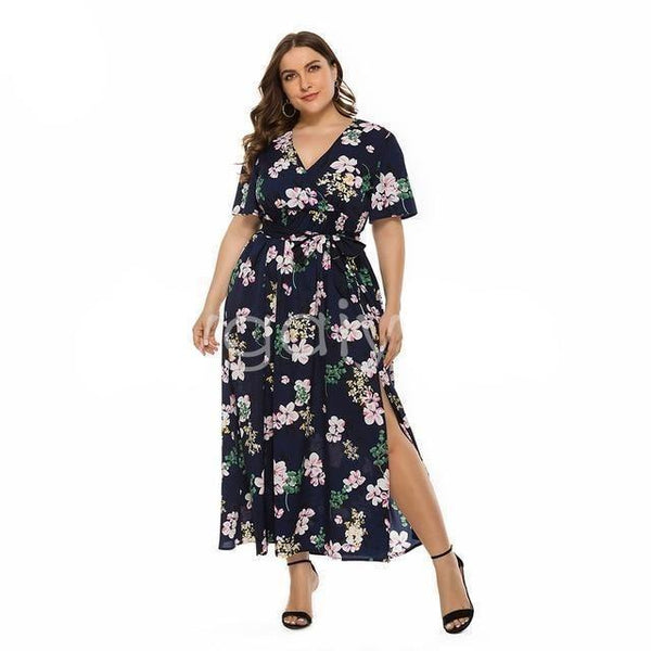Maxi Dress Floral with Sashes