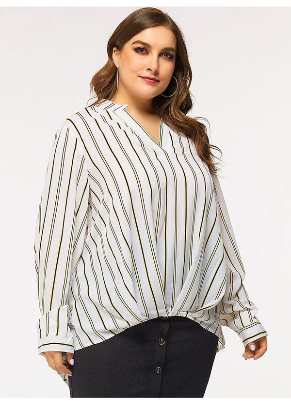 Summer v neck long sleeve casual long blouse blouse