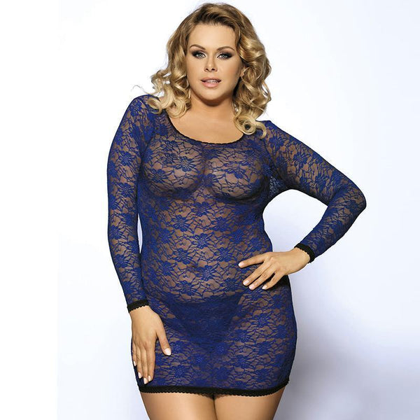 Back Strap Sexy Lace Plus Size Lingerie Babydoll
