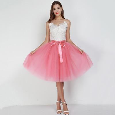 Tulle Mesh Skirt Pleated Wedding Bridesmaid Skirt wedding Rose One Size