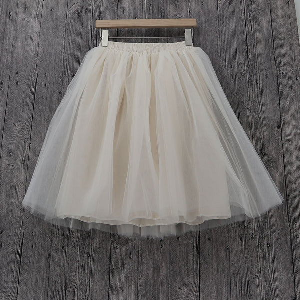 Tulle Pleated Skirt