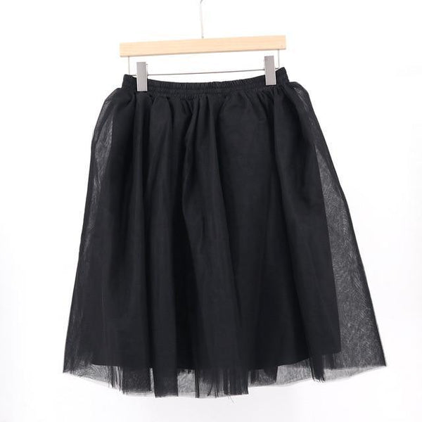 Tulle Pleated Skirt black L