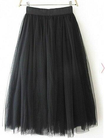 Tulle Skirt Pleated TUTU Skirts 5XL skirts Black S