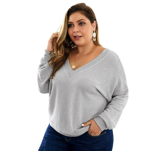 V Neck Long Sleeve V-neck Backless Sexy Blouse blouse