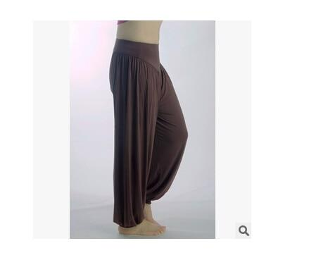 Wide Leg Harem Pants leggings K075 Coffee S