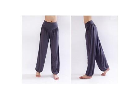 Wide Leg Harem Pants leggings K075 Dark grey S
