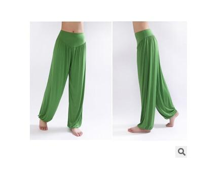 Wide Leg Harem Pants leggings K075 Green S