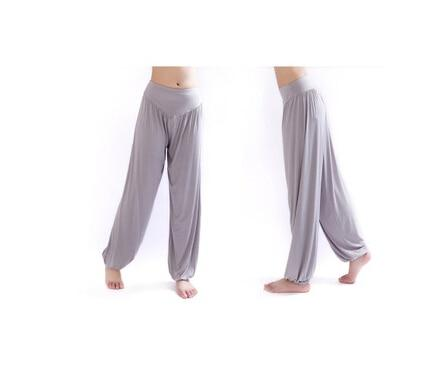 Wide Leg Harem Pants leggings K075 Light grey S