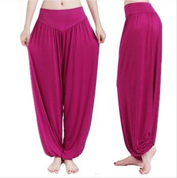 Wide Leg Harem Pants leggings K075 Purple red S