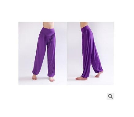 Wide Leg Harem Pants leggings K075 Purple S