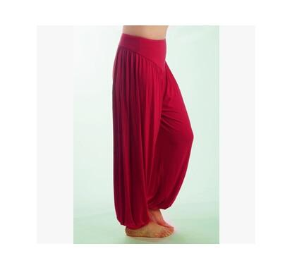 Wide Leg Harem Pants leggings K075 Red wine S