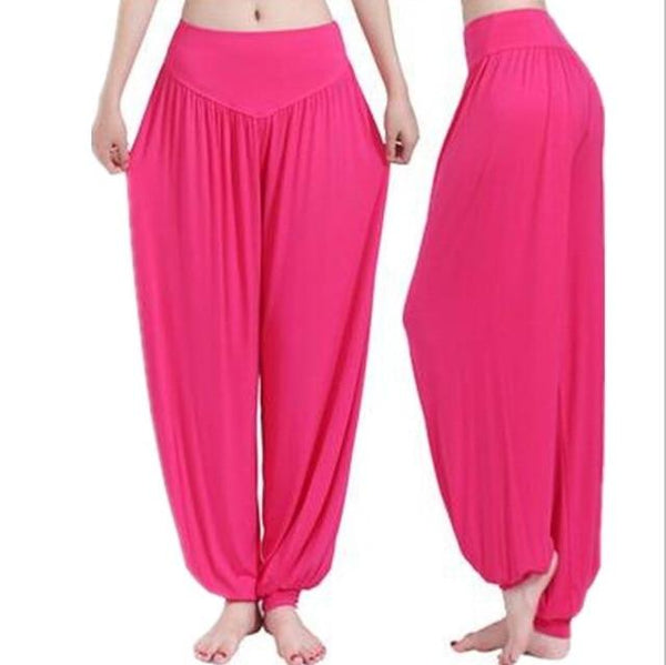 Wide Leg Harem Pants leggings K075 Rose S