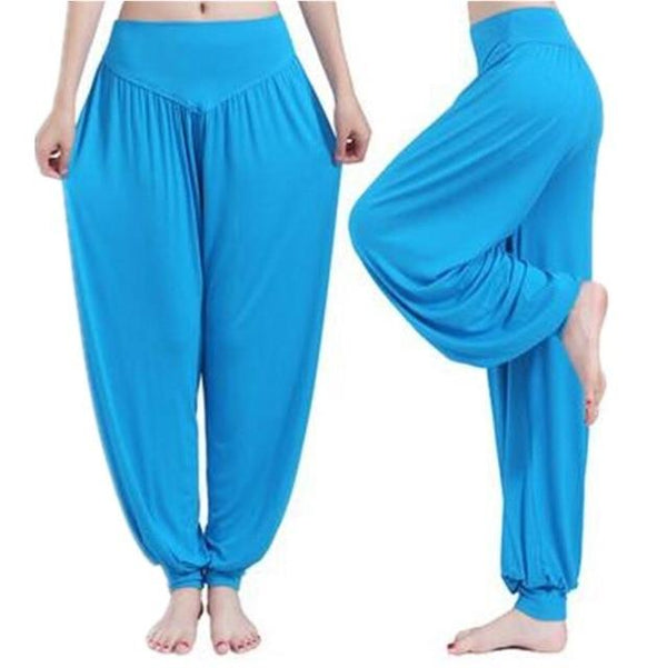 Wide Leg Harem Pants leggings K075 Sky blue S