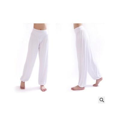 Wide Leg Harem Pants leggings K075 White S