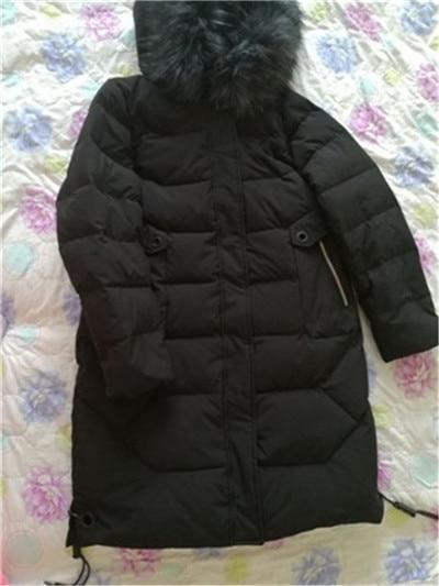 Winter Down jacket Super Large size Fur collar Hooded