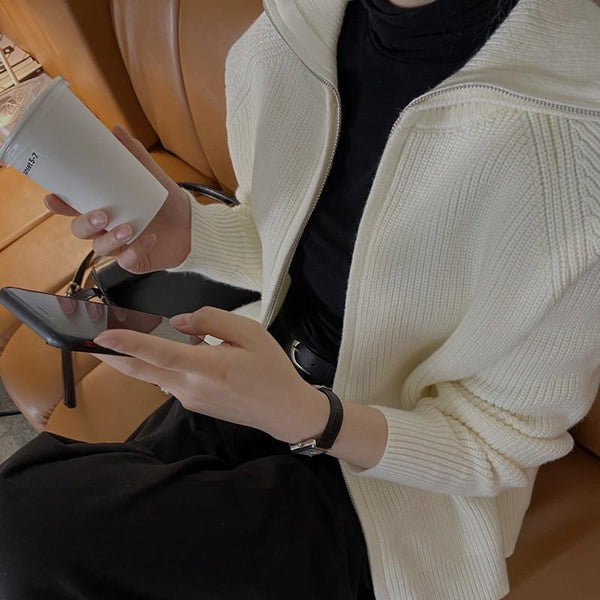 Women's Lapel Sweater Coat Sweaters